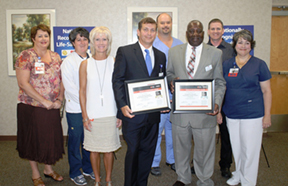 SRHS Heart Team Receives Mission Lifelife Heart Awards from AHA 2014_resized